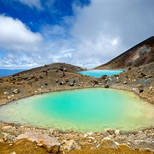 Volcano lake on the Tongariro National Circuit in New Zealand