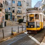 lisbon tram speed yellow