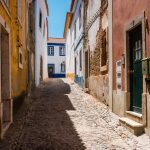 alley portugal colorful