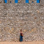 castle girl wall