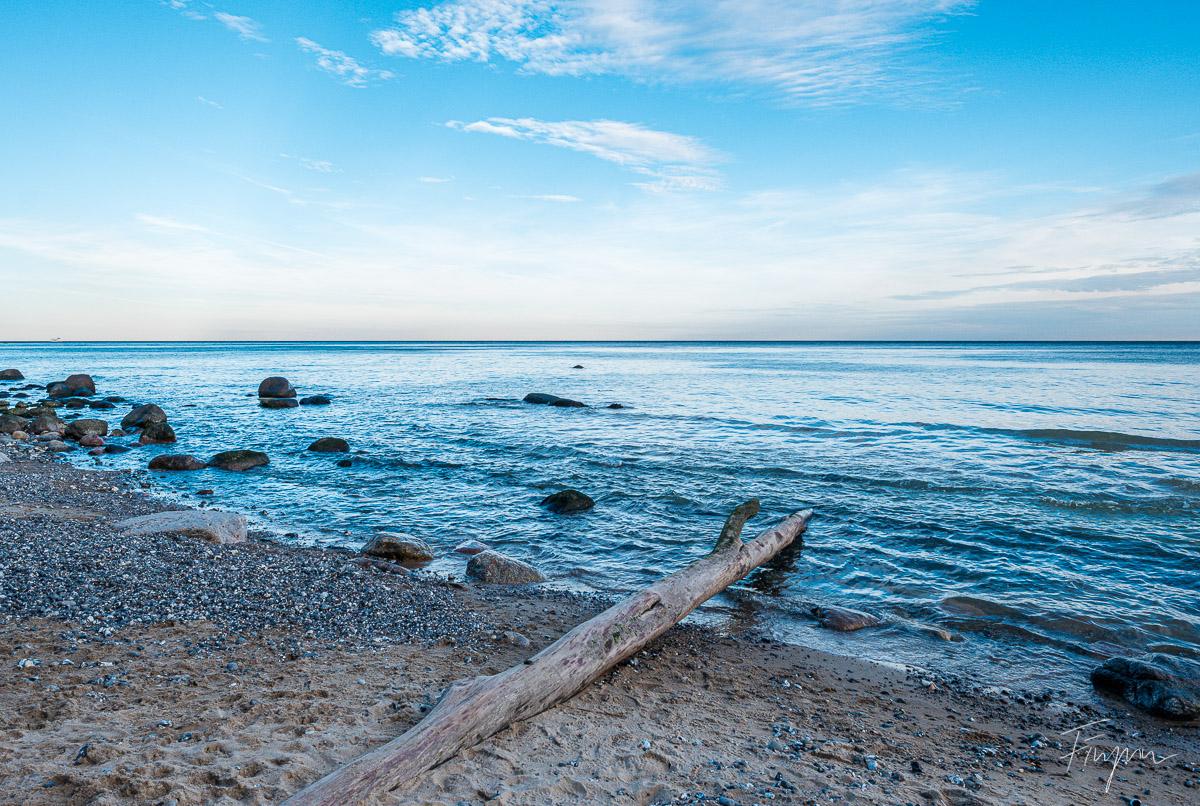 Jasmund am Meer bei Sonnenuntergang